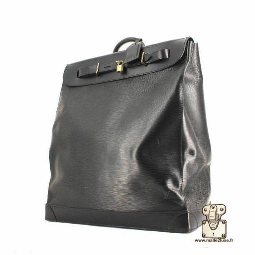 Steamer bag Louis Vuitton cuir epi noir