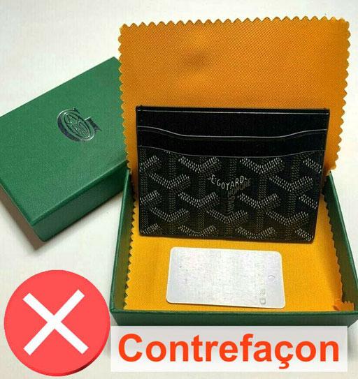 Saint Sulpice goyard card holder black counterfeit