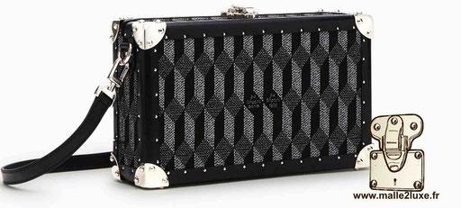 mini trunk le sac a main pour femme look vintage petite au depart noir