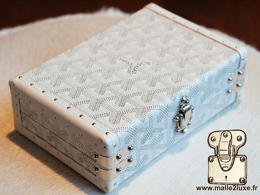 mini malle trunk goyard blanche petite