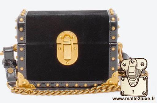 CAHIER MINI PATENT BOX BAG - PRADA trunk bag mini