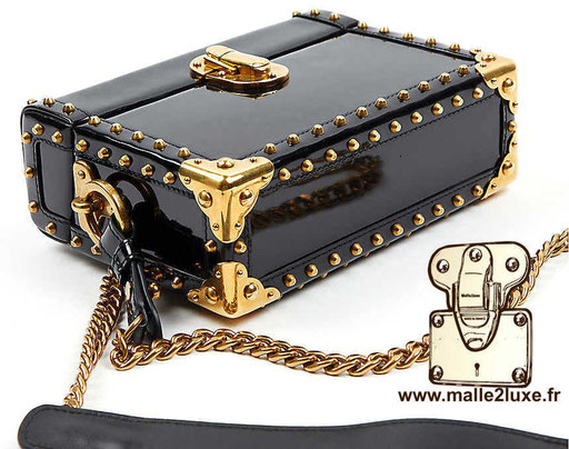CAHIER MINI PATENT BOX BAG - PRADA trunk malle sac