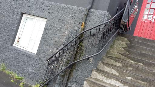 Handwerklicher Treppenlift in Reykjavik, Island, 2015