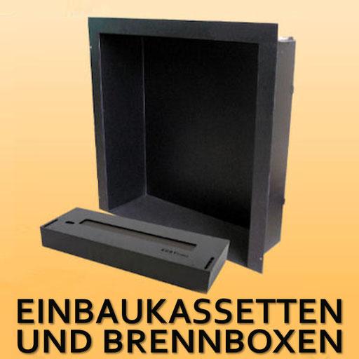 Einbaukassetten und Brennboxen