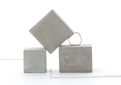 Modular Concrete Cube Still, Jewellery Photo Prop Set of 3 No25 by PASiNGA