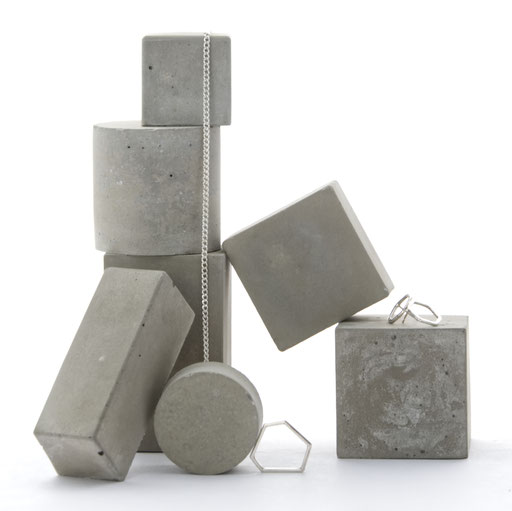 Geometric Pale Concrete Modular Sculpture Still, Photography Prop Set No31 by PASiNGA