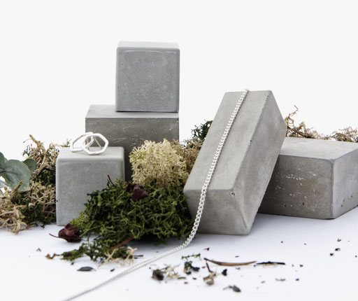 Modular Geometric Concrete Still, Jewellery Photography Prop No30 by PASiNGA