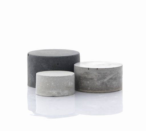 Raw Concrete Cylinder Still, Product Display Set of 3 No21 by PASiNGA