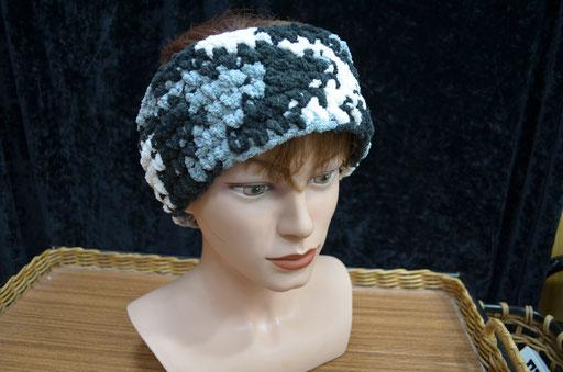 Unixex Stirnband aus Chenille Wolle (Polyester), one size. Handmade und Design by Zeitzeugen-Manufactur. 6,00 €