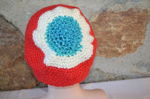 sehr warme 3-farbige Wintermütze. Design + Handmade by Zeitzeugen-Manufactur. Preis: 10,00 €