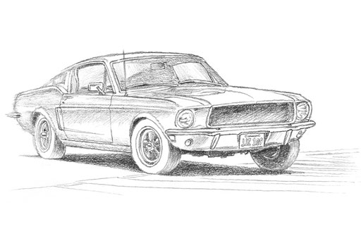 The drawing has been done by hand using a lead pencil on a white paper
