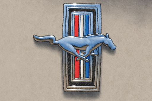 The front grill Tribar emblem is a nice addition to this printed drawing.