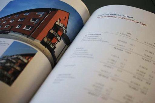 Geschäftsberichte: Konzeption, Satz, Bildbearbeitung und Druck
