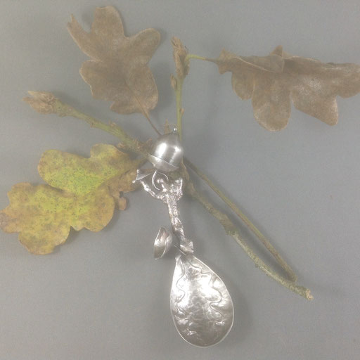 Sterling silver baby spoon/rattle.