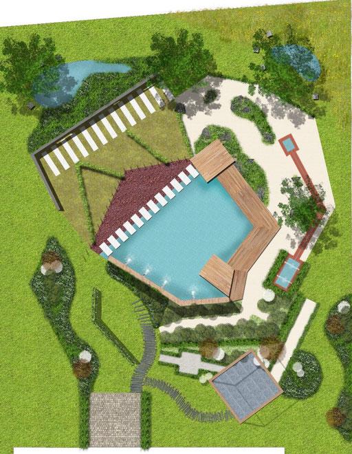 la plan du jardin