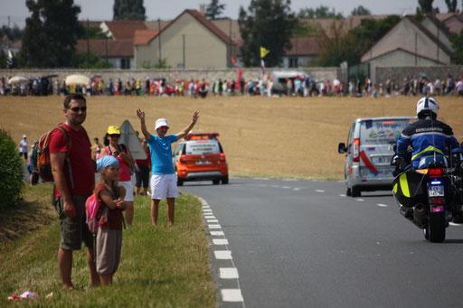 Dernière étape du Tour de France 2014 - à proximité de Vauhallan(91)