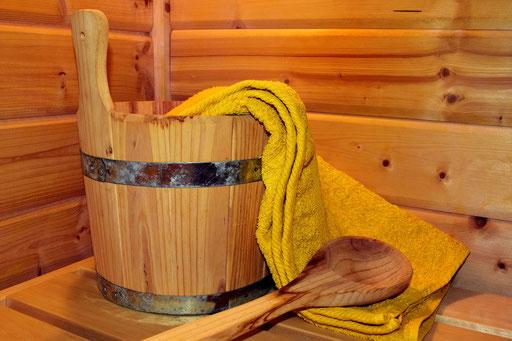 Sauna. Wärme.
