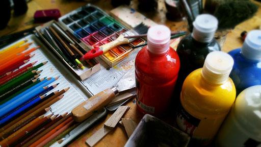 Malen. Bilder. Kunst. Farben. Kreativ sein
