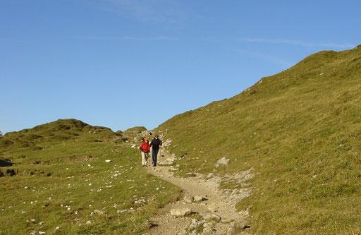 Berge. Wandern. Natur. Spaziergang. Bewegung