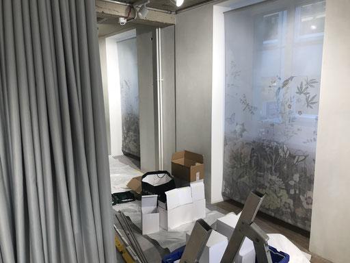 Spezialanfertigung Sichtschutz Garderobenbereich