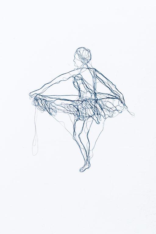 Aus der Serie: Collective monologue, 2015, Garn auf Acrylglas, 50 x 40 cm