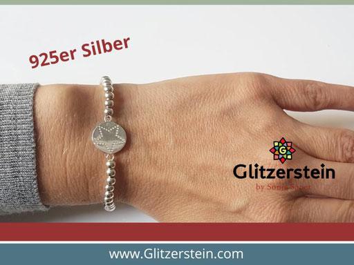 and aus 925er Silber in 4 mm mit dem Schmuckverbinder Stern