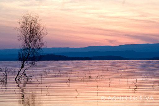 Aurore sur le lac Baringo