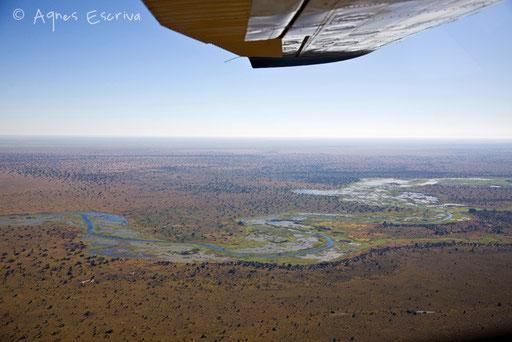 Survol du marais de Bangweulu