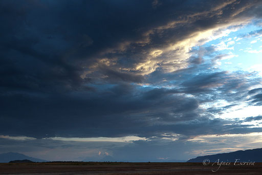 Vue sur le mont Lengaï depuis le Shompole group Ranch