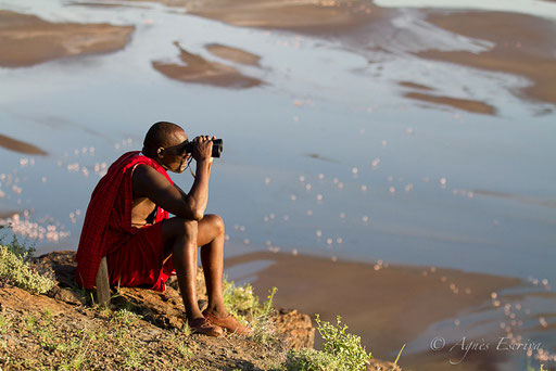 Guide masaï et Lac Magadi