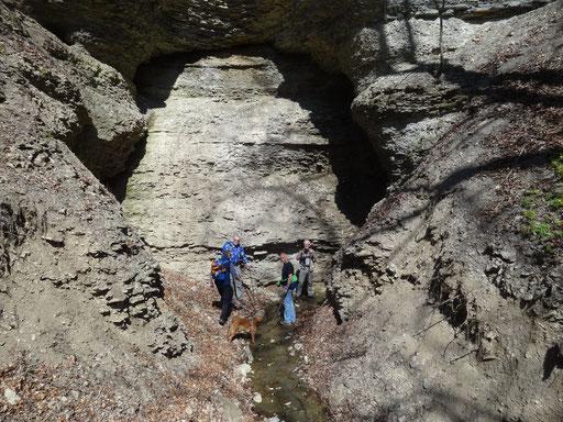 Fuchslochhöhle bei der 2015er Tour