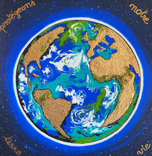 Protégeons notre terre -(60 x 60)copyright Pascale Richert