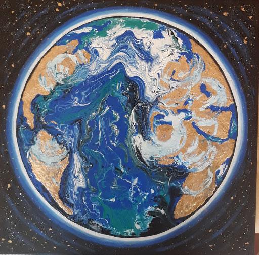 Terre et nuages -(50 x 50)   copyright Pascale Richert