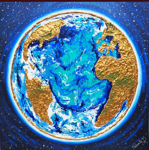 Terre , métal -(50 x 50 )  copyright Pascale Richert
