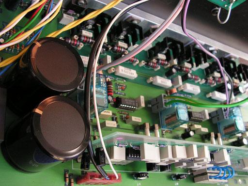 die Verstärkerelektronik: klar und sauber aufgebaut