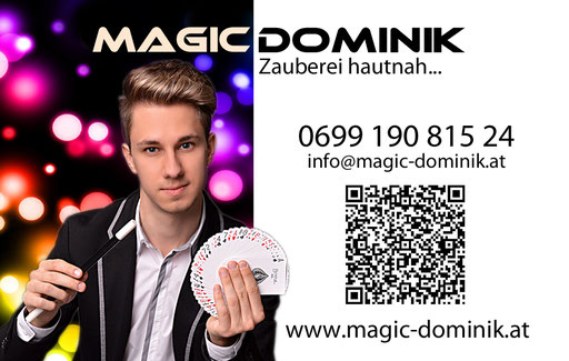 Visitenkarte Magic Dominik, 2016