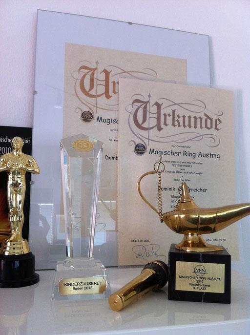 Preise und Auszeichnungen Magic Dominik