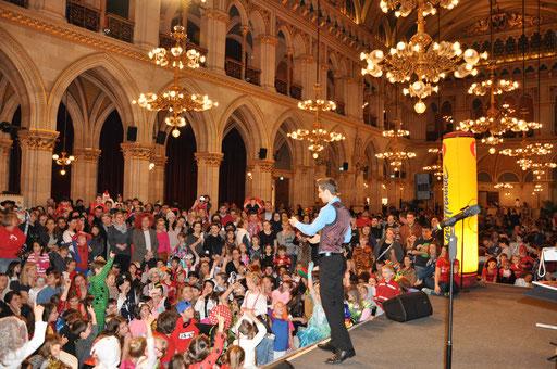 Größtes Familienfaschingsfest in Wien, Kinderfreunde Wien, Wiener Rathaus, 2018
