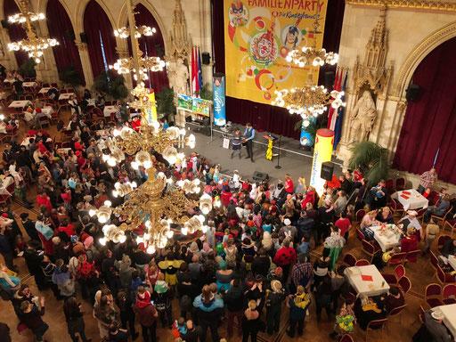 Größtes Familienfaschingsfest in Wien, Kinderfreunde Wien, Wiener Rathaus, 2018 /©Robert Steiner Familyentertainment
