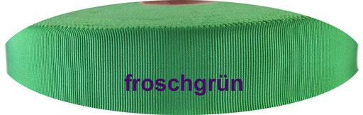 froschgrün Viskose Ripsband