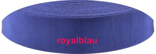 royalblau Viskose Ripsband