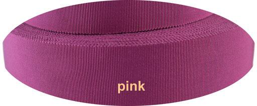 pink Viskose Ripsband