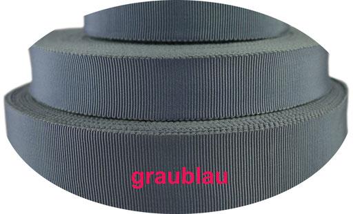grau-blau Viskose Ripsband
