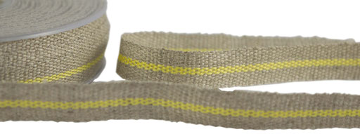 Leinen mit gelb Streifen
