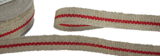 linen with red stripes
