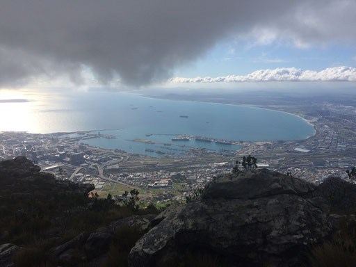 Cape Town and the bay from the top of Devil's Peak, Cape Town, Running Guide, City Guide, Run My City, run to discover, run to explore
