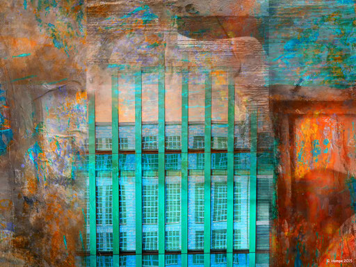 The turquoise building