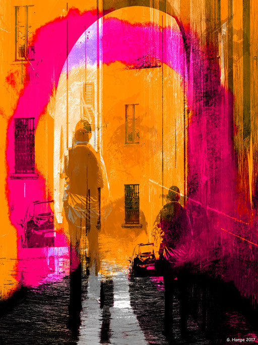 The man in the old alley