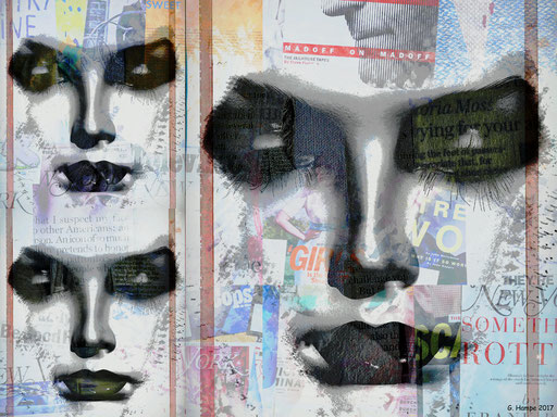 Collage of three faces