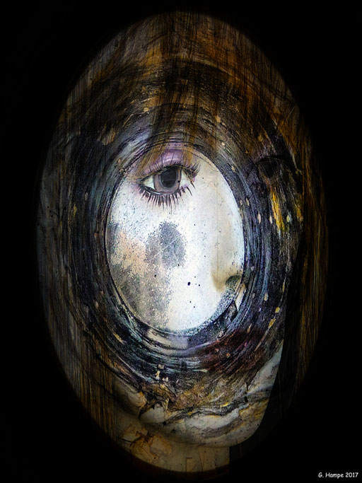 The face inside the circle